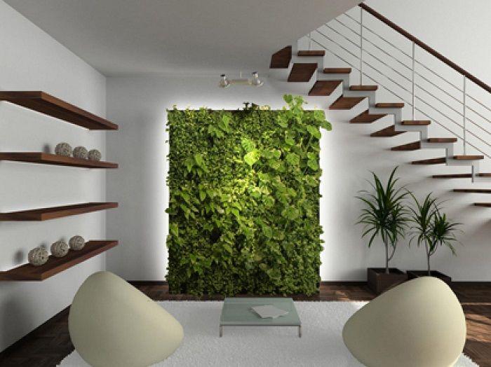 Прекрасный вариант обустроить интерьер комнаты при помощи создания мини-сада.