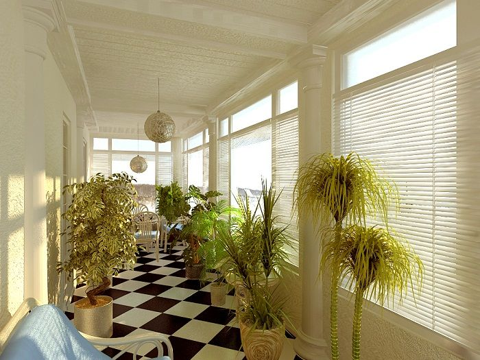 Интересный и симпатичный вариант сделать из комнаты-балкона просто отличный мини-сад, что создаст волшебную обстановку.