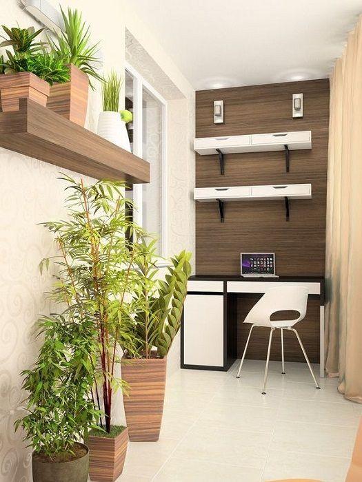 Доста вариант да създадете страхотно решение и интересен интериор в компактна стая, проектирана като домашен офис.