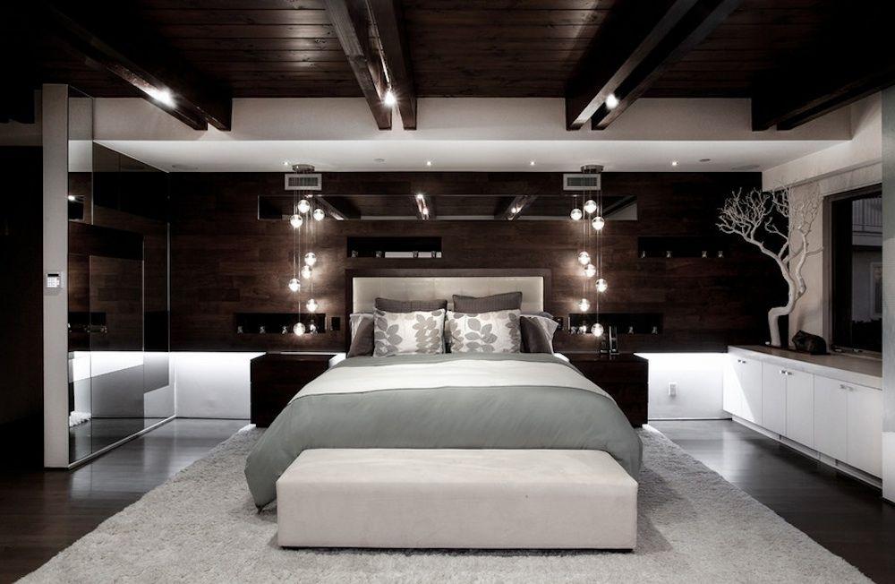 Естественное освещение в интерьере спальной комнаты