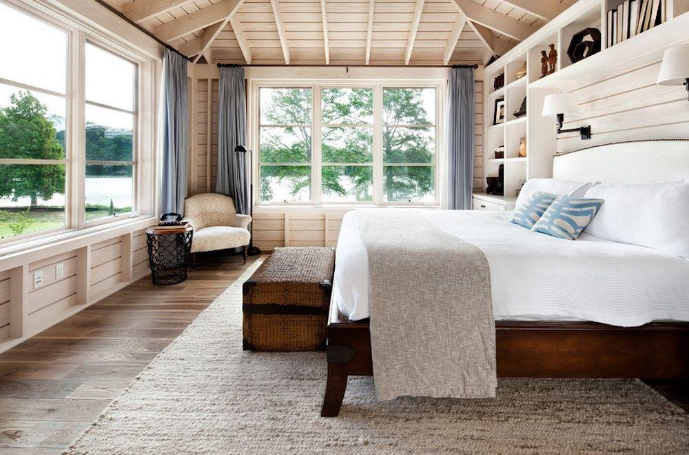 Естественное освещение спальной комнаты