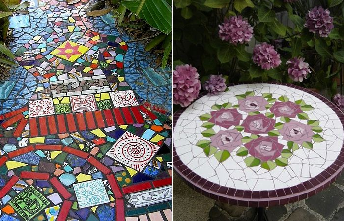 Керамическая плитка - практически универсальный материал для декора.