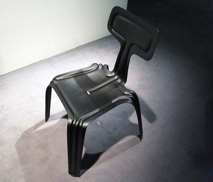 Стиснат стол - изглед отгоре