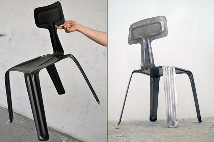 Пресовани алуминиеви столове от различни ъгли