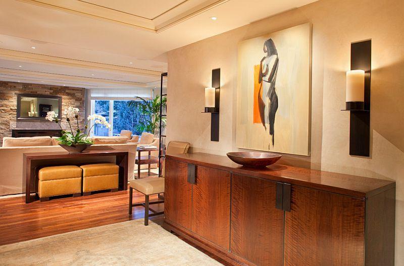Красивые настенные бра в дизайне интерьера помещения