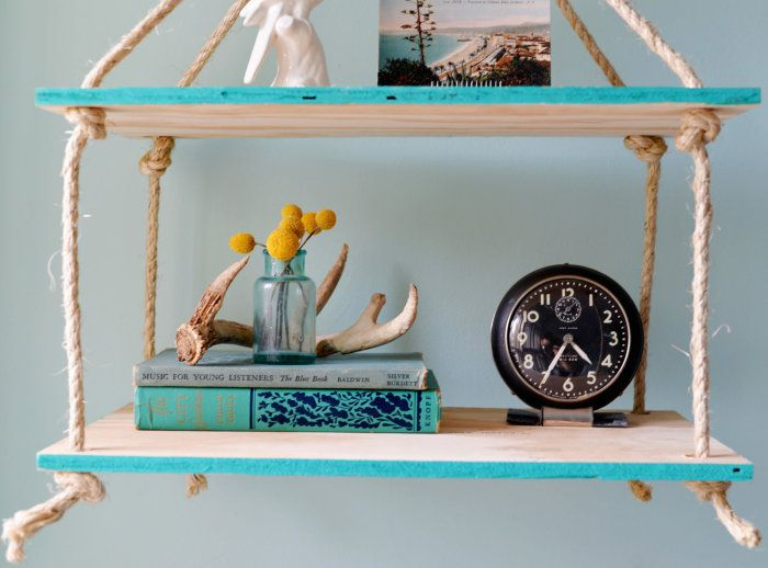 Półki ukryją niedoskonałości powierzchni po samodzielnym pomalowaniu.