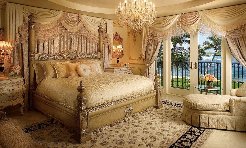 Чудная люстра в интерьере спальни