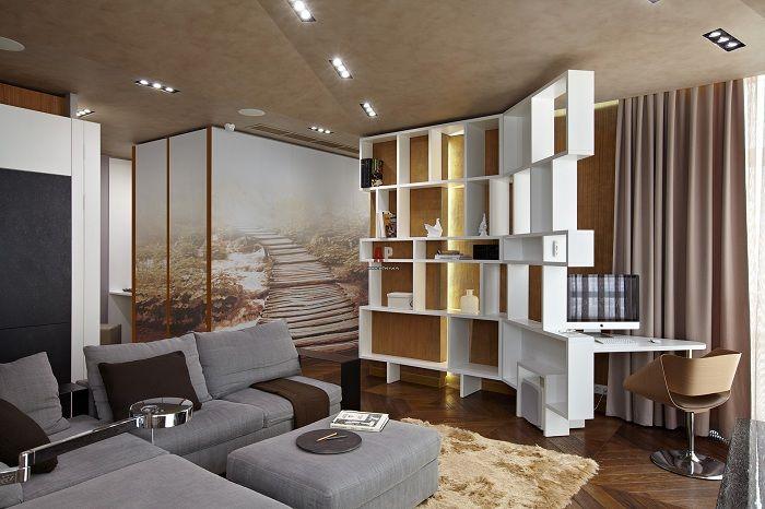 Чудесен вариант за успешно декориране на интериора на стая с ажурна преграда.