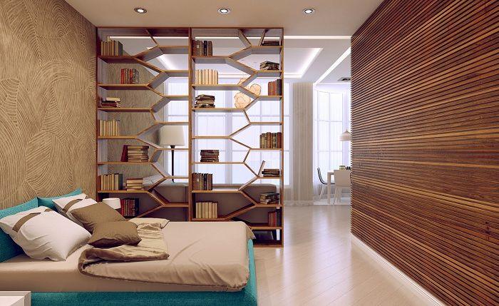 Красив пример за създаване на две стаи от едната, като ги разделите с дял.
