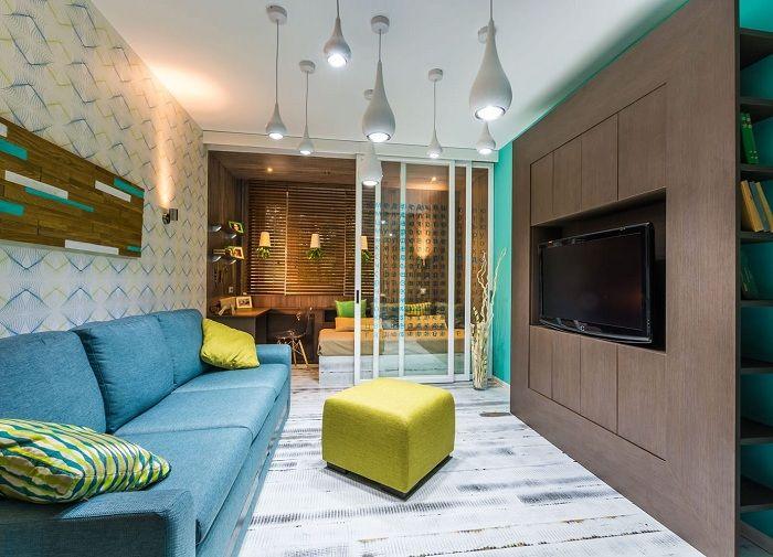 Най-добрият пример за успешно зониране в дома е чрез поставянето на прозрачна стъклена преграда.