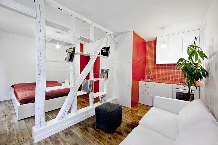 Добър вариант за създаване на страхотно настроение в стаята благодарение на успешната организация на пространството.