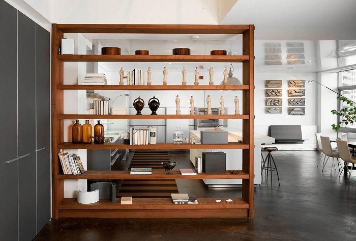Декориране на пространството в къщата благодарение на бърза трансформация с помощта на поставянето на прегради.