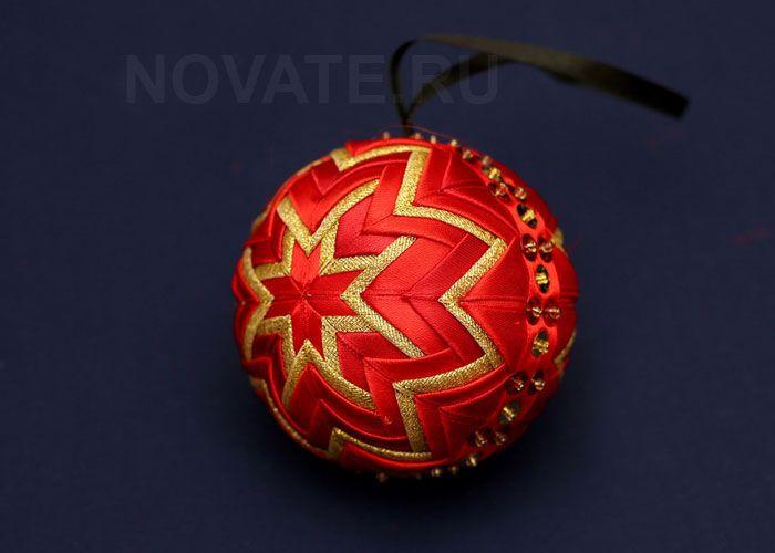 Как сделать петельку для новогоднего шарика.