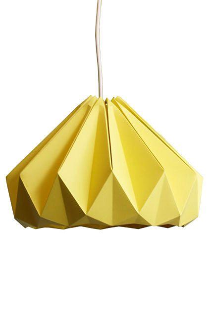 Оригинальная подвесная люстра в форме оригами