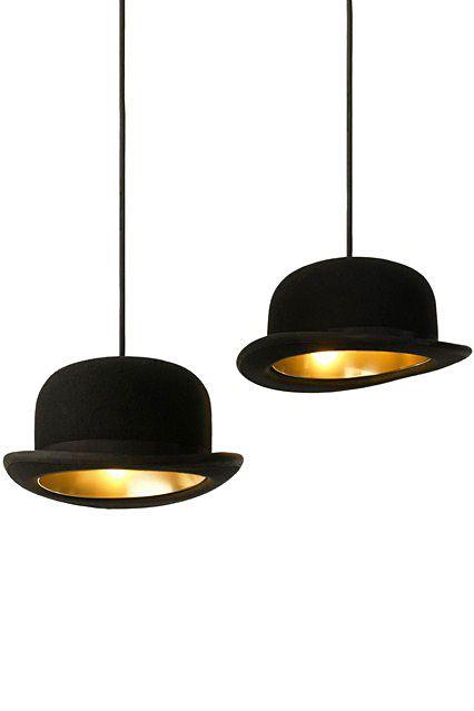 Оригинальные подвесные светильники-шляпы