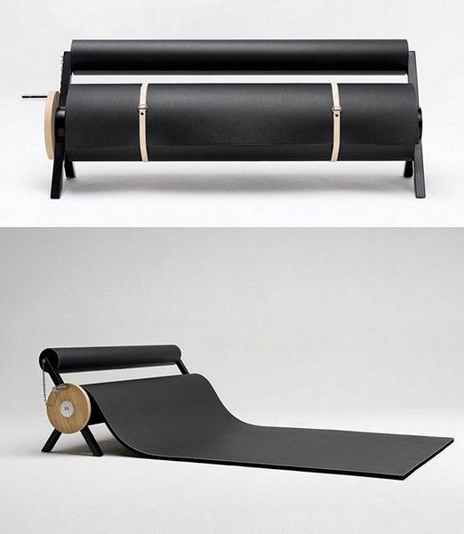 Fantastisk utrullbar sofa