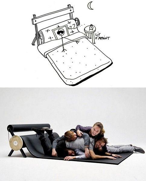 Kreativ tegning av designer sofapute