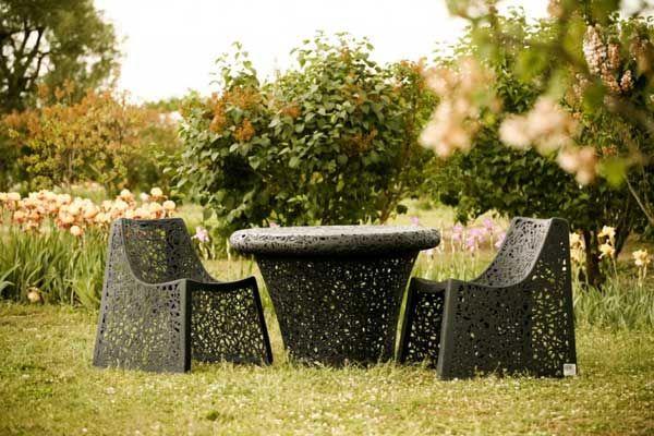 Уникальная коллекция садовой мебели из базальта