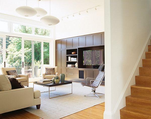 Raffinert stue i lyse farger