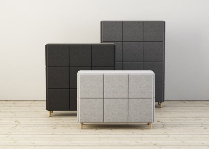 Красивые системы хранения в виде войлочных блоков