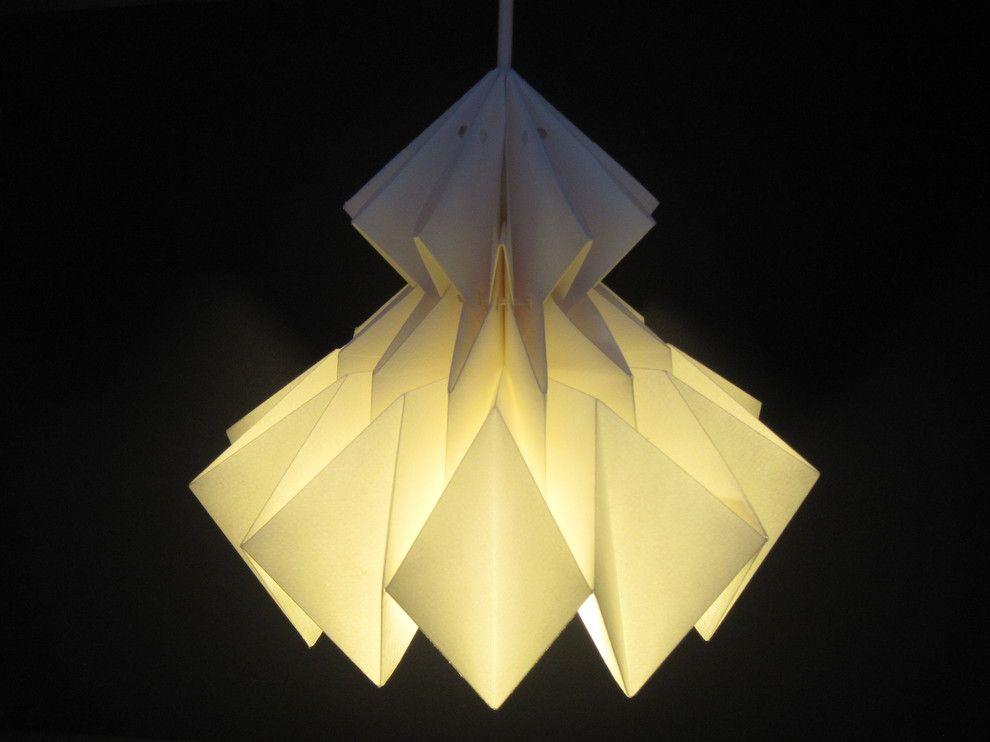 Волгебный подвесной светильник в виде оригами