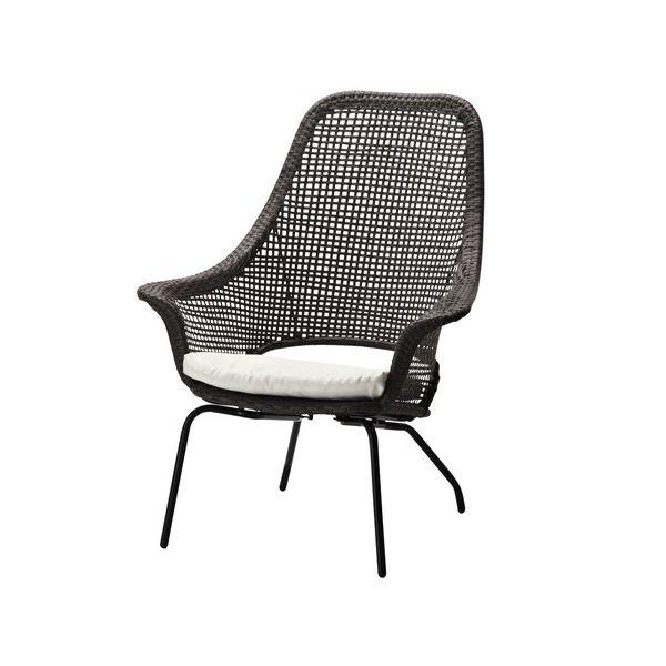 Напольный стул из ротанга
