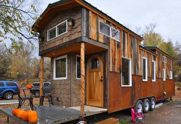 Мобильный домик площадью 38 кв. метров.