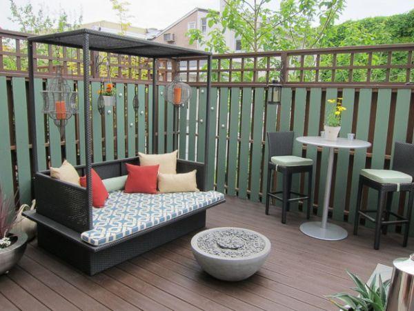 Современная мебель на террасе