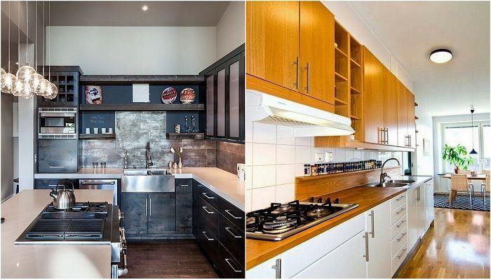 Upeita ideoita modernien keittiöiden sisustamiseen.