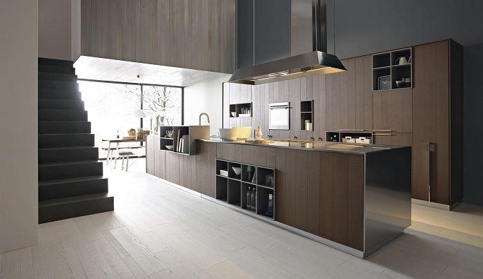 Хубав вариант за декориране на кухнята с текстури от дърво.