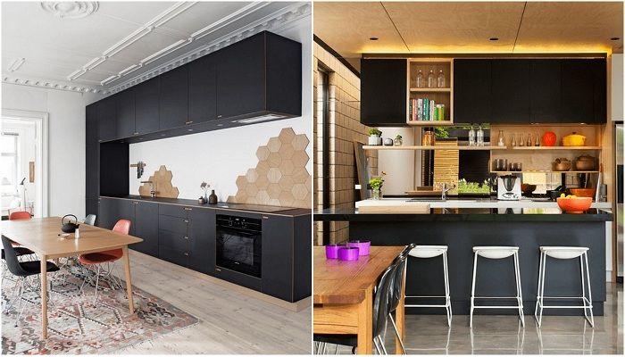 Idées de décoration de cuisine incroyablement créatives en noir.