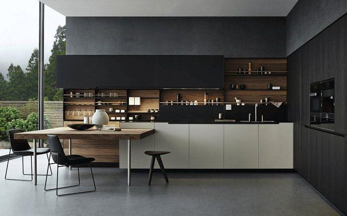 Cuisine luxueuse et très grande dans la maison, qui ne sera qu'une excellente solution pour transformer l'espace.
