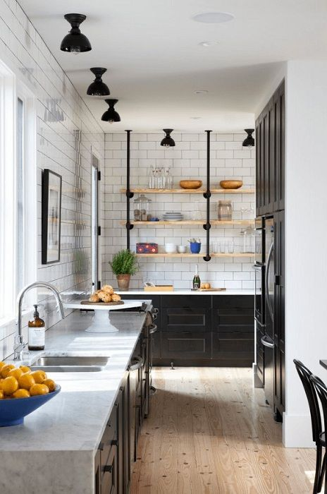 Зашеметяващ и незабравим индустриален стил, който ще създаде изключително кухненско изживяване.