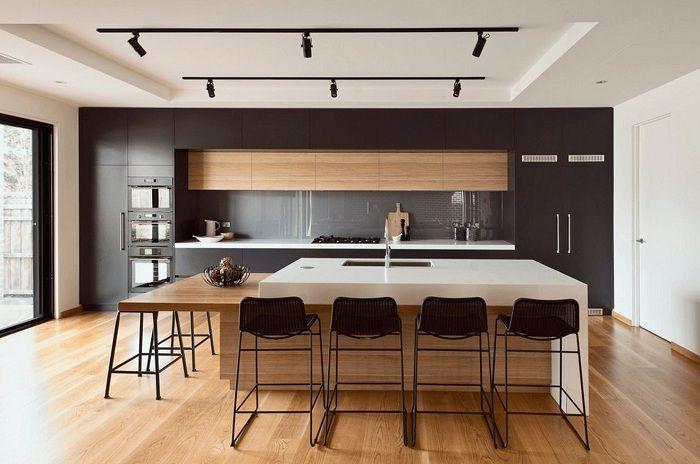 Отлично решение за декориране на кухня в черни нюанси, което ще бъде просто богиня.