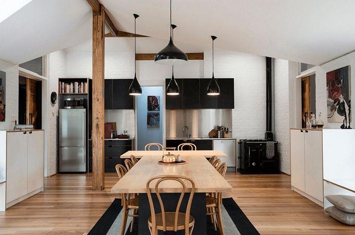 Juste une excellente option pour décorer une cuisine dans des tons noirs qui vous séduiront et vous charmeront instantanément.