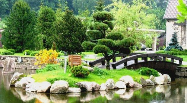 мини озеро с мостиком