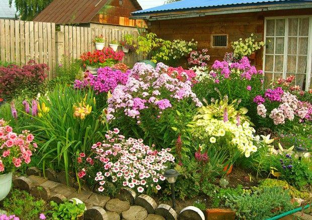 Цветна градина в страната