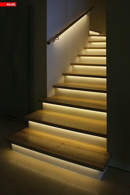 Светодиодное освещение ступенек лестницы