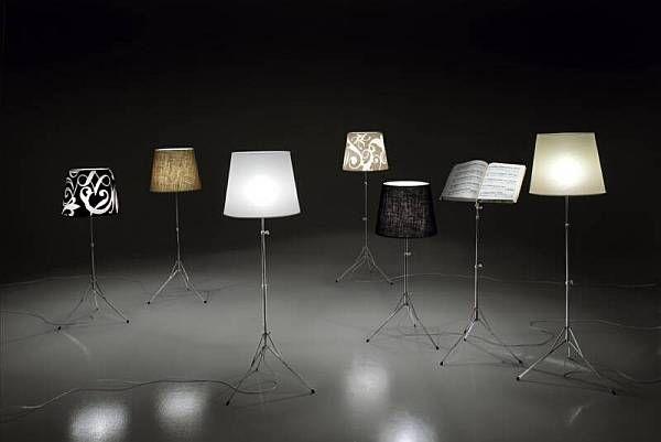 Необичайни подови лампи в различни цветове