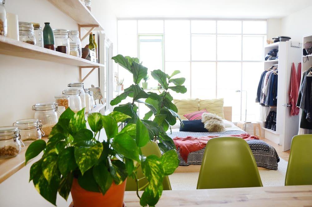 Тавански мебели: Рафтове за отворени стени