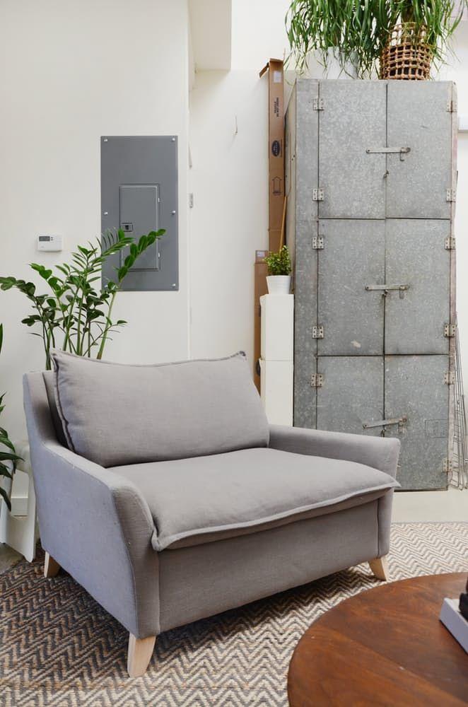 Loftmøbler: metallskap