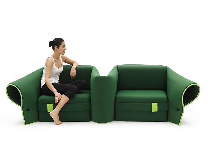 Функционален диван Sosia в зелено от Emanuele Magini