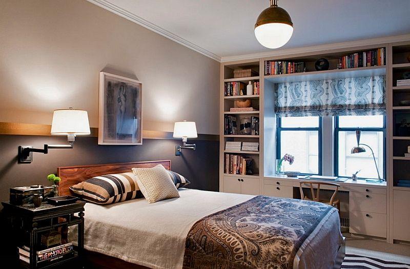 Модные светильники в спальне