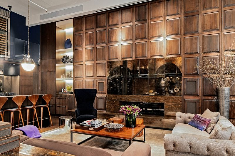 Nydelig interiørdesign i stuen