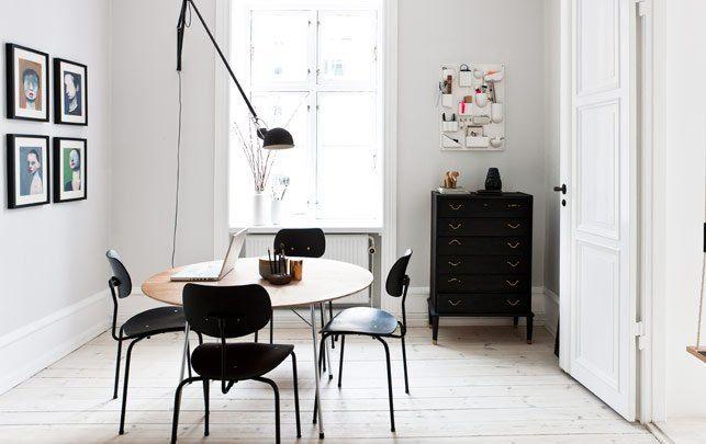 Модные светильники для столовой в чёрном цвете