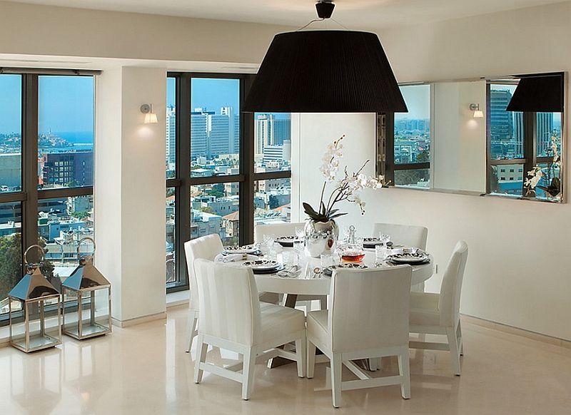 Motetrender innen interiørdesign: runde lamper