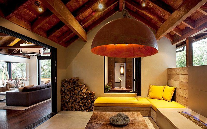 Stor lampe i interiøret