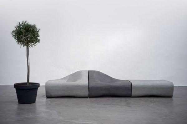 Уникальная модульная мебель из цемента с элементами декора