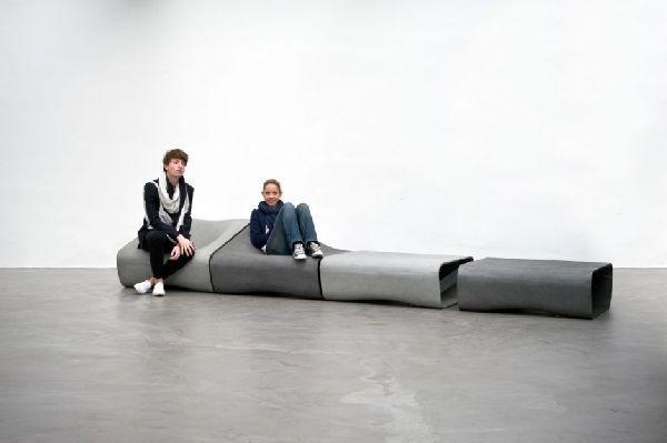 Прекрасная модульная мебель сделанная с помощью цемента