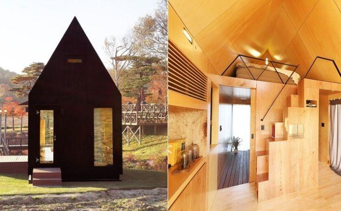 Slow Town Tiny House - модульный домик площадью всего 19,8 кв. метров.